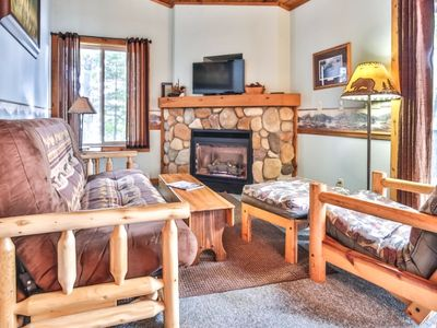 Photo for Cottage 9 - Hiller's Pine Haven - Cozy cottage & fireplace overlooking lake