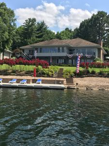 Photo for Families welcome-sleeps 12-spectacular view-lake front-2 kayaks 2 paddle boards-