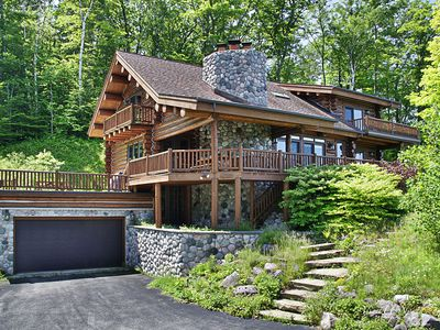 Photo for Viewtopia-Leland- Gorgeous log home-Stunning view property
