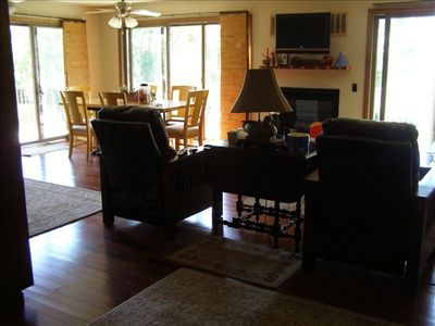 Photo for Lake McConaughy Lake Front home, One King three Queen size beds, Dish TV, WIFI.