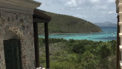 Photo for Privacy, views, pool, 4 equal king size bedrooms, walk to world famous Maho Bay!