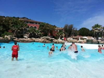Photo for LARGE T2 VILLAGE CLUB LES RESTANQUES DE ST TROPEZ / SUPERB SEA VIEW / 2 POOLS