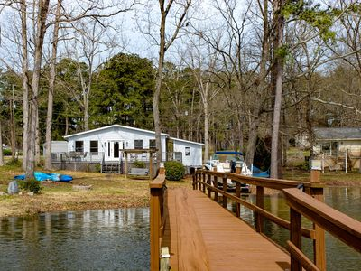 Lake Murray home with private dock and boat ramp