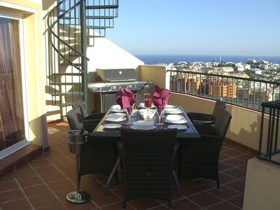 Photo for Newly built, very spacious, penthouse apartment, terrace, solarium and sea view