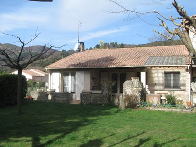 Photo for Basaltine: 90m2 House Rental located in Jaujac (Ardèche), with 3 bedrooms