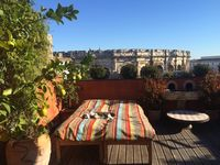 Beautifully decorated, centrally located charming 2 bedroom apartment with fabulous terrace
