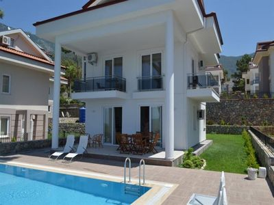 Photo for Fethiye Rental 4+1 With a Privat Pool Villa Anch. Luxury villa with privat pool and garden. Oludeniz 3 km