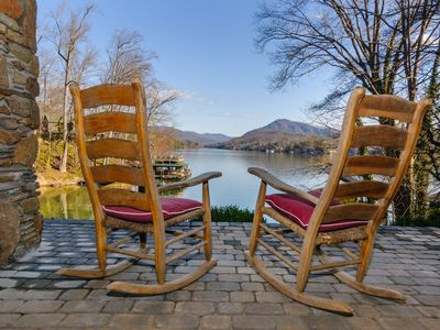Photo for Large lakefront home. Swim, fish & kayak on Lake Lure