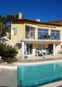 Photo for House 110 m2, air-conditioned, sea view with private pool in Hyères - VAR