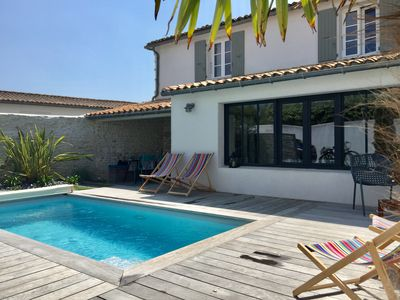 Photo for Le Bois Plage - La Cachette en Re - Beautiful house retaise, heated pool