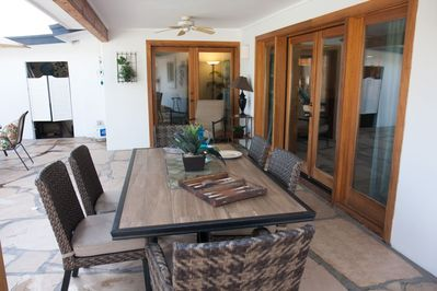 Heated pool + brand new, completely renovated backyard - ideal for lounging and dining!
