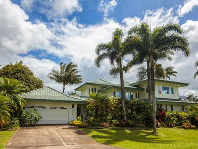 Photo for A Luxury Tropical Villa, Walking Distance from Hanalei Bay