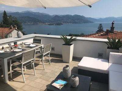 Photo for Tra Sassi&Stelle apartment in a stone house with lake view