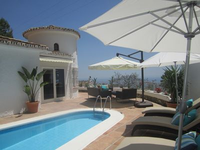 Photo for Beautiful villa, private pool, stunning views, walking distance to Mijas Pueblo.