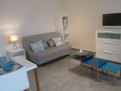 Photo for Beautiful renovated studio 100 meters from the beaches TERRACE & PARKING