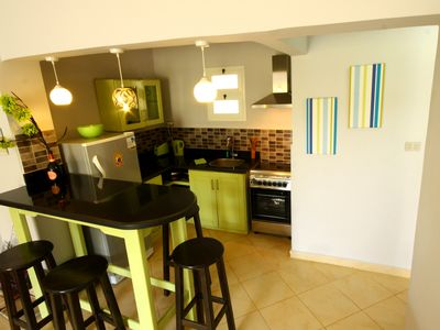 Photo for Zesty Apartment, sleeps 4 with complimentary wifi, satellite TV plus BBQ area