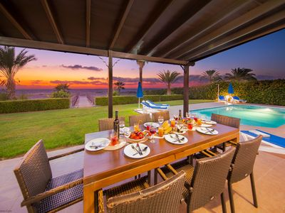 Photo for Anthiana Beach Villa - Argaka -  A Seafront villa that sleeps 8 guests in 4 bedrooms