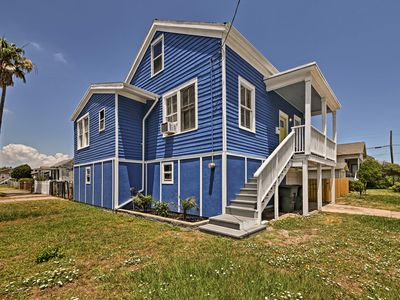 Photo for Galveston Home by Seawall w/Patio - Walk to Beach!