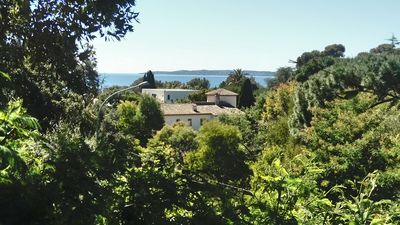 Photo for golf course of ST Tropez, T1 of 35 m ² seen sea, in 380 m the beach, terrace and parking