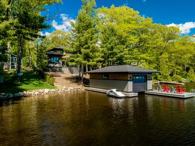 Photo for Stunning modern newly built luxury cottage on the shores of Lake Muskoka!