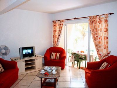 Photo for Cozy Apartment Hibicasa   in a big residence with a pool and garden