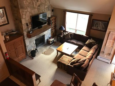 Family Room with 60' Smart TV & Large Sectional