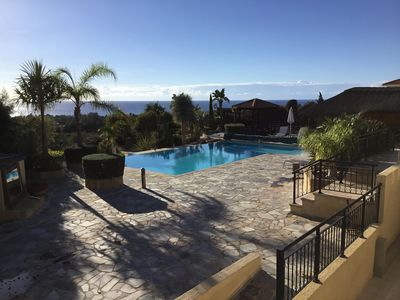 Photo for 5 star  Villa - extra large inifinity pool  Sea Views Pool Dining Area & Gardens