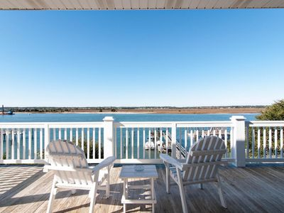 Photo for Comfortable soundfront home offering relaxing sound views with boat dock