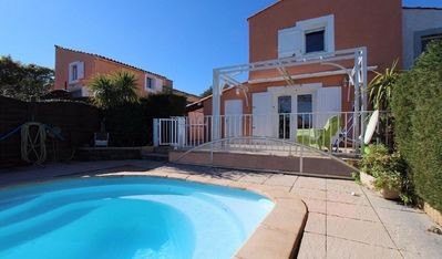Photo for House 8 persons, 4ch, private pool, sea mountain