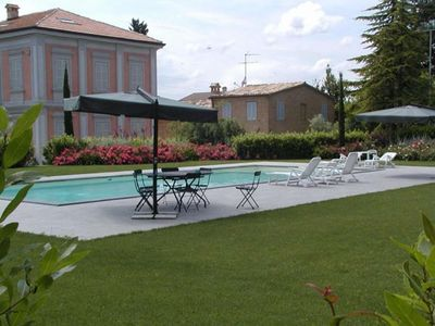 Photo for Historic residence with swimming pool in the heart of the Marche hills up to 29 people