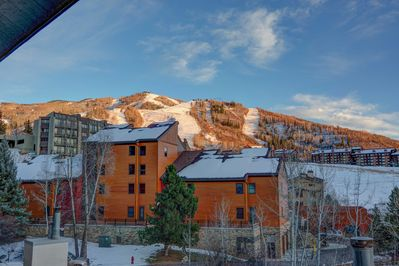 Take in the view of Steamboat Ski Resort from the front of this condo!