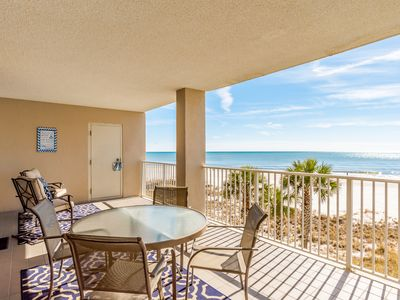 Photo for Great start up rates!! Spacious, low floor level, huge gulf front deck, clean!