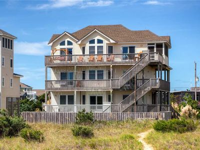 Photo for An Oceanfront Dream in Salvo w/ Elevator, Sparkling Pool, Hot Tub, Game Room