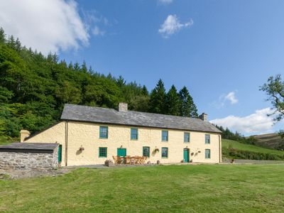 Photo for Large character farmhouse nestled on a hillside in the heart of rural Mid Wales offers a secluded ge