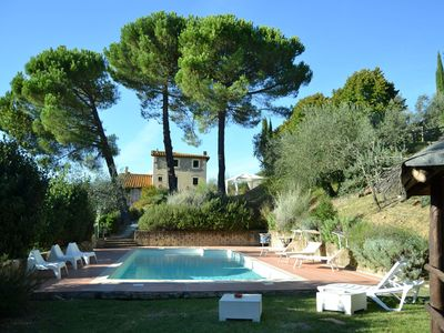 Photo for Large comfortable villa with garden and pool in the hills near Florence