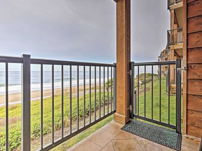 Photo for Ocean-View Resort Condo in Lincoln-Steps to Beach!