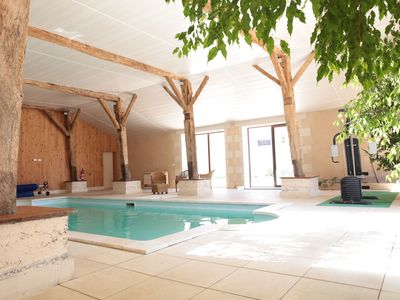 Photo for 19 +2 seats, hammam, sauna, indoor heated pool ...