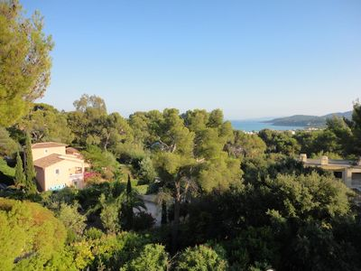 Photo for Superb sea view, Les Parcs du soleil, private residence with 2 swimming pools,