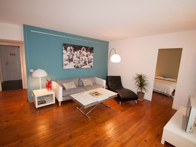 Photo for Beautiful spacious and bright apartment in the heart of Biarritz