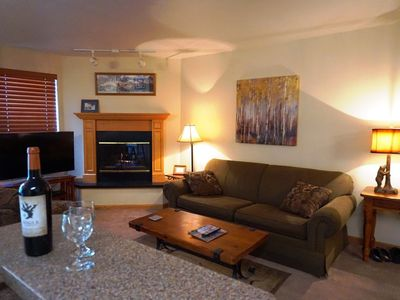 Photo for Ski-In To This Great One Bedroom One Bathroom Condo With River And Mountain View