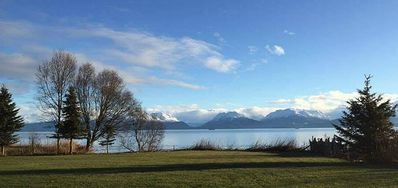Photo for Beach front with views of Glaciers, Bay And Snow Capped Mountain Views