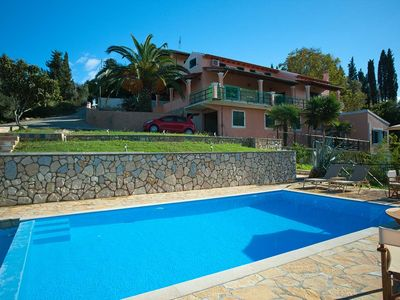 Photo for Exclusive villa with sea view, large pool, top - hillside location: central, but quiet