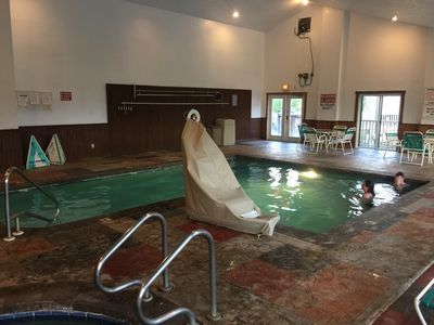 Indoor swimming pool, hut tub and sauna available to all guests.