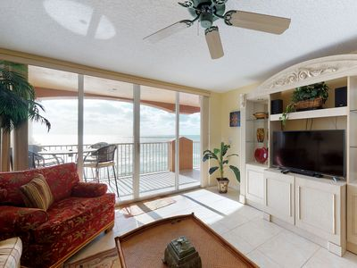 Photo for NEW LISTING! Luxurious, waterfront penthouse w/ shared hot tub & two pools