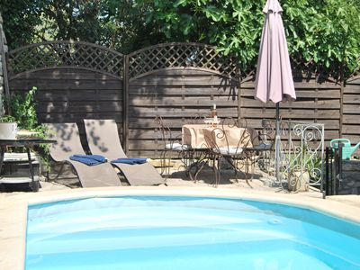 Photo for Spacious apartment with terrace, pool & view in heart of stunning village