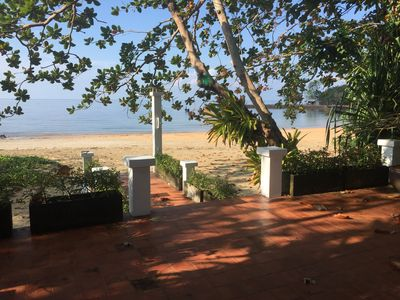 Photo for Piman Pu Villa - private serviced beach front Thai style pool villa