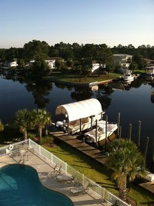 Photo for Luxury Condo/boat slip/pool/2BD-2BA/Fishing Pier