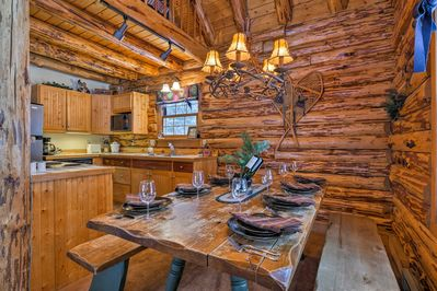 Every inch of the interior exudes the warmth and comfort of a cabin.