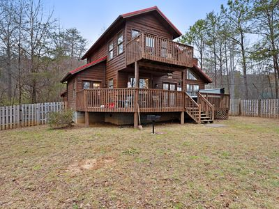 Photo for Dog-friendly cabin w/private hot tub, fenced-in yard, and firepit!