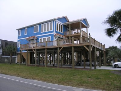 Photo for Unique Carolina Beach House - Built-in Outdoor Hot Tub -Tremendous Outdoor Decks